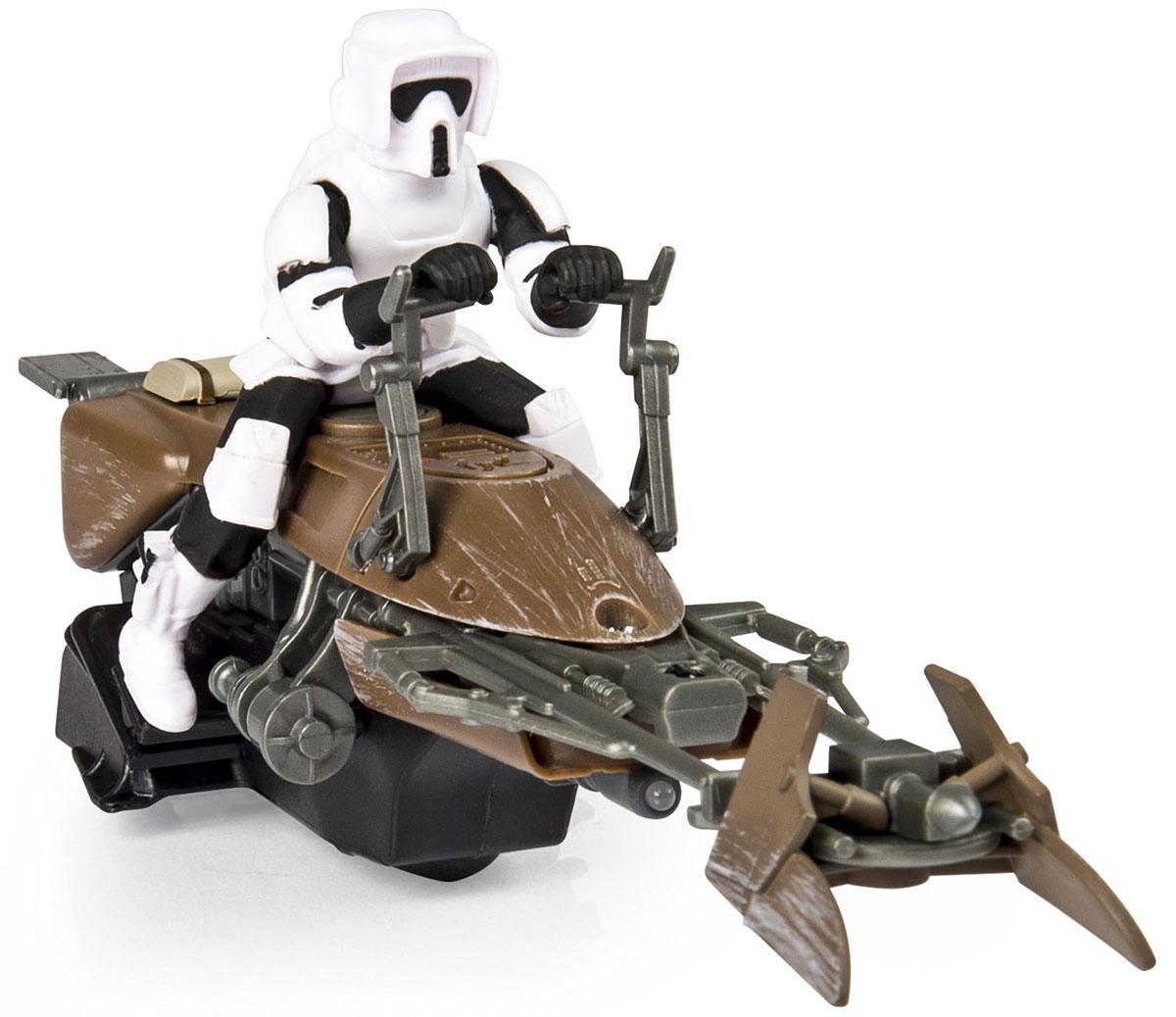 Star Wars Игрушка на радиоуправлении Скоростной байк44546Игрушка на радиоуправлении Star Wars Скоростной байк непременно порадует юного поклонника всеми любимой саги Звездные Войны. Корпус игрушки ударопрочный. Игрушка выполнена в форме летающего байка Империи из вселенной Звездных Войн. За рулем байка - имперский штурмовик. Для работы игрушки необходимы 3 батарейки типа ААА (не входят в комплект). Для работы пульта управления необходимы 3 батарейки типа ААА (не входят в комплект).