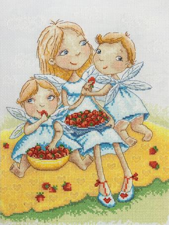 Набор для вышивания крестом Марья Искусница Ангелочки, 22 х 30 см15.001.34Набор для вышивания крестом Марья искусница Ангелочки поможет создать красивую вышитую картину. Рисунок-вышивка, выполненный на канве, выглядит стильно и модно. Вышивание отвлечет вас от повседневных забот и превратится в увлекательное занятие! Работа, сделанная своими руками, не только украсит интерьер дома, придав ему уют и оригинальность, но и будет отличным подарком для друзей и близких! Набор содержит все необходимые материалы для вышивки на канве в технике счетный крест. Схема вышивания Вид на колокольню выполнена по рисунку Э. Эллис. В набор входит: - канва Aida Zweigart №14 (голубого цвета), - мулине Finca - 100% мерсеризованный хлопок (29 цветов), - черно-белая символьная схема, - инструкция на русском языке, - игла. Размер готовой работы: 22 х 30 см. Размер канвы: 38,5 х 40 см.