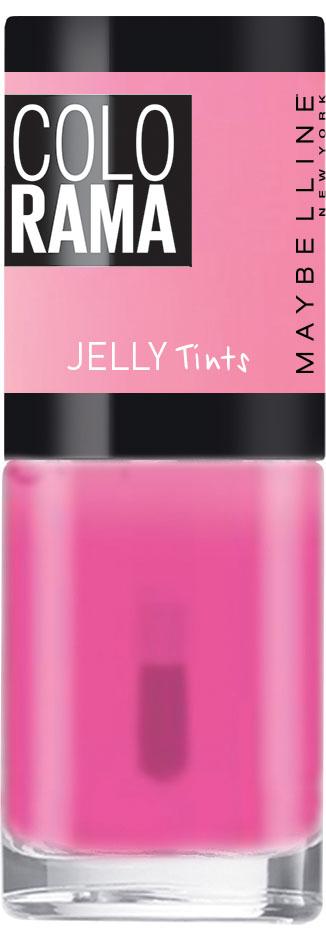 Maybelline New York Лак для ногтей Colorama Коллекция Jelly Tints, оттенок 458, Малиновый Сироп, 7 млB2769900Тренды подиумов Нью-Йорка на твоих ногтях! Новая стильная упаковка, улучшенные оттенки, эксклюзивные коллекции, необычные текстуры и особое настроение!