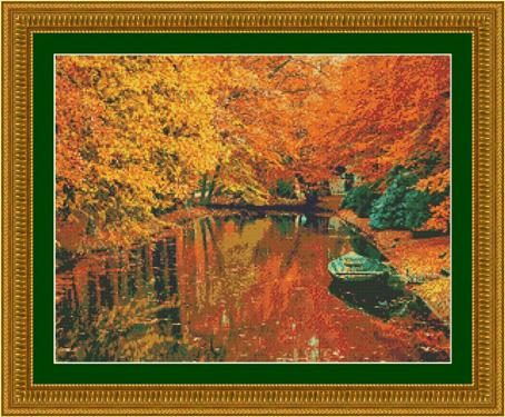 Набор для вышивания Kustomkrafts Осенняя прогулка на лодке, 45,8 см х 35,6 см. 9734797347Набор для вышивания Осенняя прогулка на лодке, канва Аида 14, мулине, игла, ч/б схема, счетный крест, 45,72 х 35,56 см Вышивать можно без использования пяльцев, крестики на ткани получаются аккуратными и ровными. Вышитую работу рекомендуется стирать вручную в теплой воде. Для закрепления цвета нитей можно добавить в воду для полоскания уксусную эссенцию (1 ст.ложку на 5 л. воды). Не отжимать. Гладить с изнаночной стороны через влажную ткань.