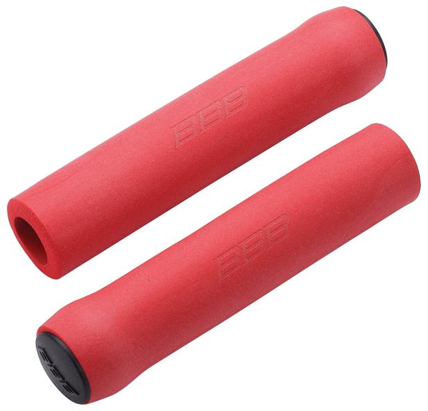 Грипсы BBB Sticky, 130 мм, цвет: красный. BHG-34BHG-34Комфортные грипсы из мягкого силикона с вибро- и ударопоглощающими свойствами. Силиконовое покрытие обеспечивает прекрасное сцепление с перчатками. Заглушки руля в комплекте. Сверхлегкие. Вес: 49 грамм. Длина: 130мм.