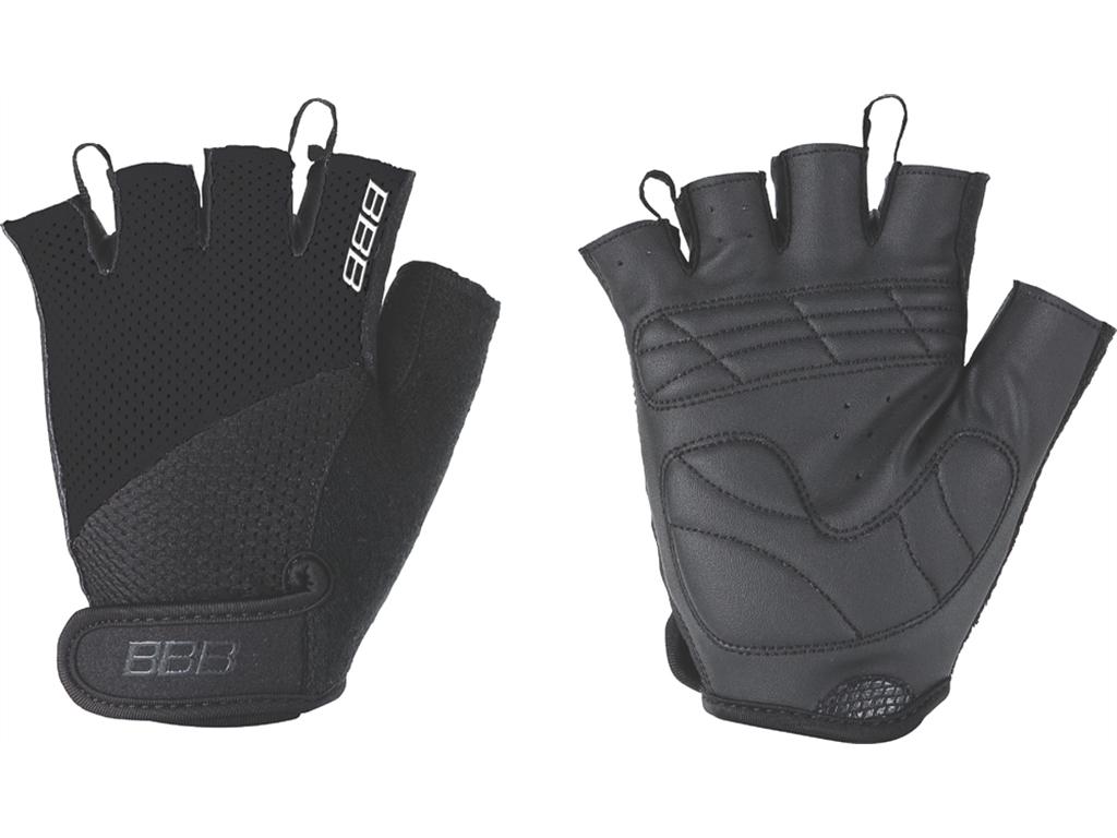 Перчатки велосипедные BBB Chase, цвет: черный. BBW-49. Размер XXLBBW-49Комфортные летние перчатки. Максимальная вентиляция за счет тыльной стороны перчаток из сетчатого материала. Ладонь из материала Serino с гелевыми вставками для большего комфорта. Застежки велькро (Система WristLock). Вставка для удаления влаги/пота.