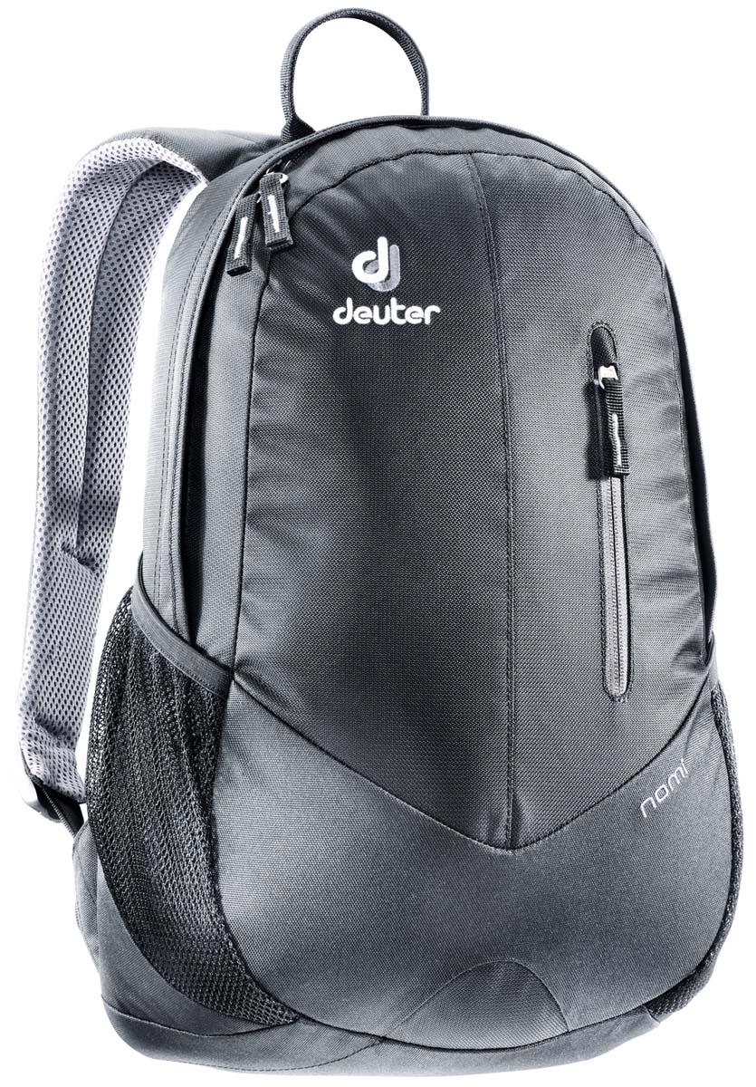 Рюкзак Deuter Nomi, цвет: черный, 16л83739_7000Небольшой легкий рюкзак каплевидной формы полностью повторяет изгибы вашей спины во время движения. Рюкзак обладает небольшим весом и отличной функциональностью.