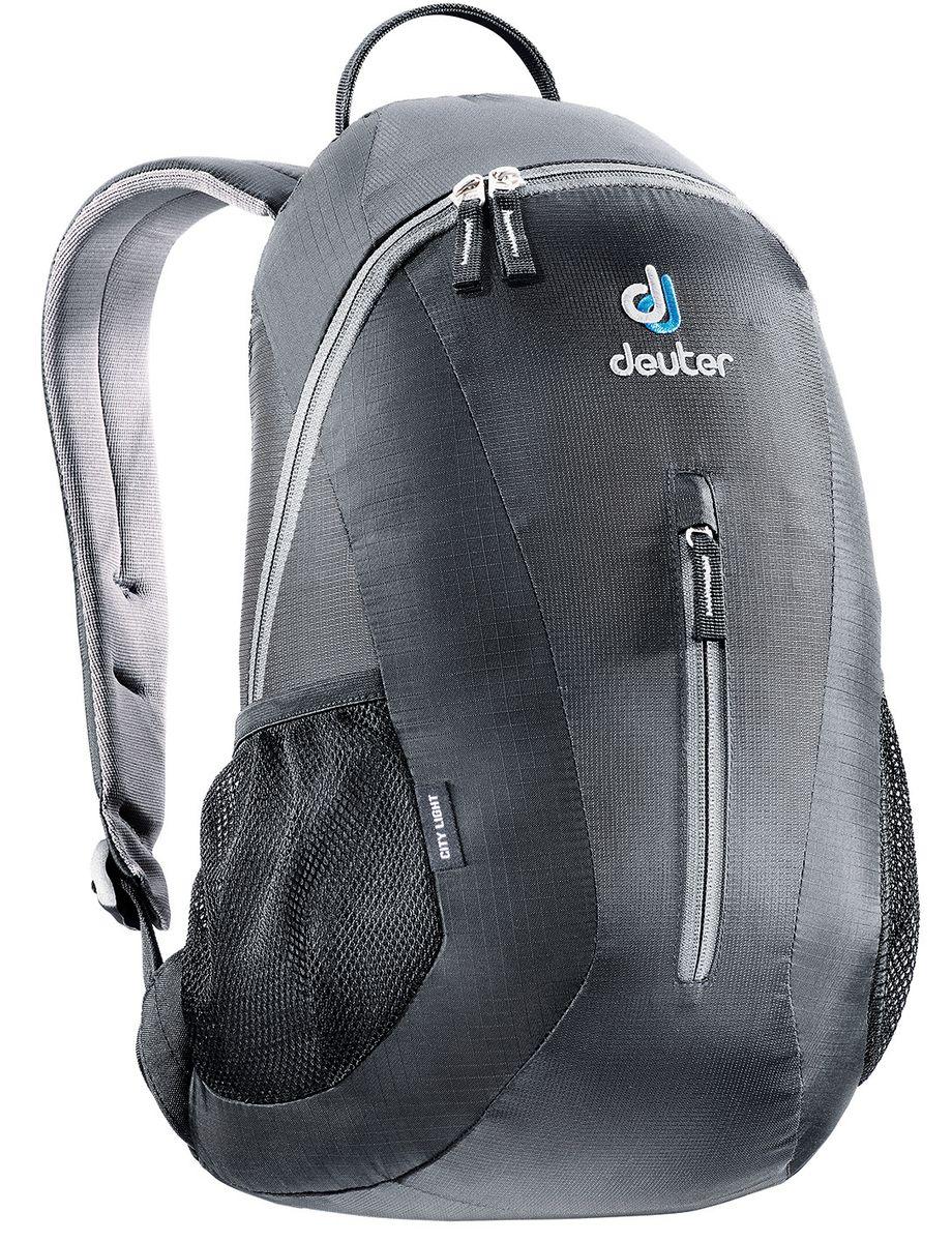 Рюкзак спортивный Deuter Daypacks City, цвет: черный, 16 л80154_7000Deuter City Light - это небольшой, легкий рюкзак, всегда готовый для активного перемещения по городу. Особенности: система подвески irstripes, анатомические мягкие плечевые лямки, удобный доступ в основное отделение с помощью двусторонней u-образной молнии, внутренний карман для документов, передний карман на молнии, боковые сетчатые карманы, отражатель 3M.