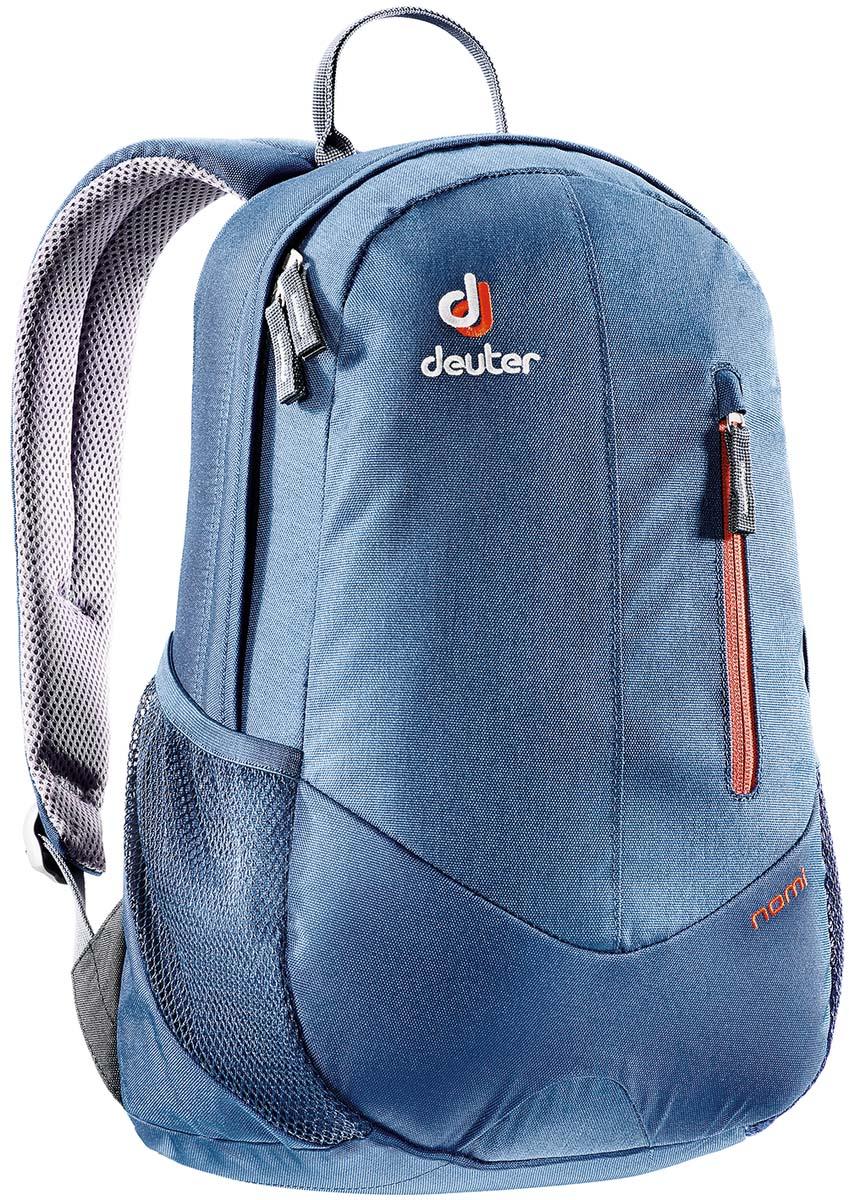 Рюкзак Deuter Daypacks Nomi , цвет: темно-синий, синий, 16л83739_3022это небольшой, легкий, ярко раскрашенный рюкзак, всегда готовый для активного перемещения по городу Cистема подвески Airstripes, анатомические мягкие плечевые лямки, удобный доступ в основное отделение с помощью двусторонней u-образной молнии, внутренний карман для документов, передний карман на молнии, боковые сетчатые карманы, отражатель 3M Вес:500 г. Объем: 16 л.