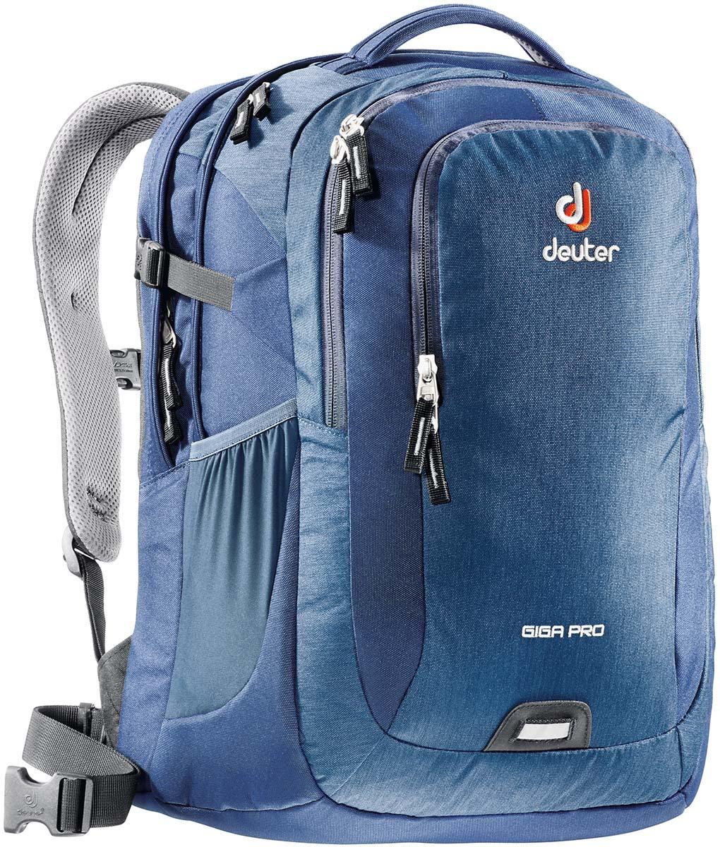 Рюкзак Deuter Daypacks Giga Pro, цвет: синий, 31 л80434_3022Когда вам необходимо иметь все при себе, когда вы собираетесь в университет, тот тут Gigant спешит на помощь. Все необходимые документы и книги с легкостью уместятся в этом рюкзаке. Также есть наличие большого мягкого отделения для Laptop. Рюкзак имеет анатомическую форму, вентиляцию спины, мягкие, регулируемые лямки. Несмотря на то, что у вас максимальная загрузка рюкзака, вы все еще по прежнему с комфортом можете перемещаться от одной лекции к другой.