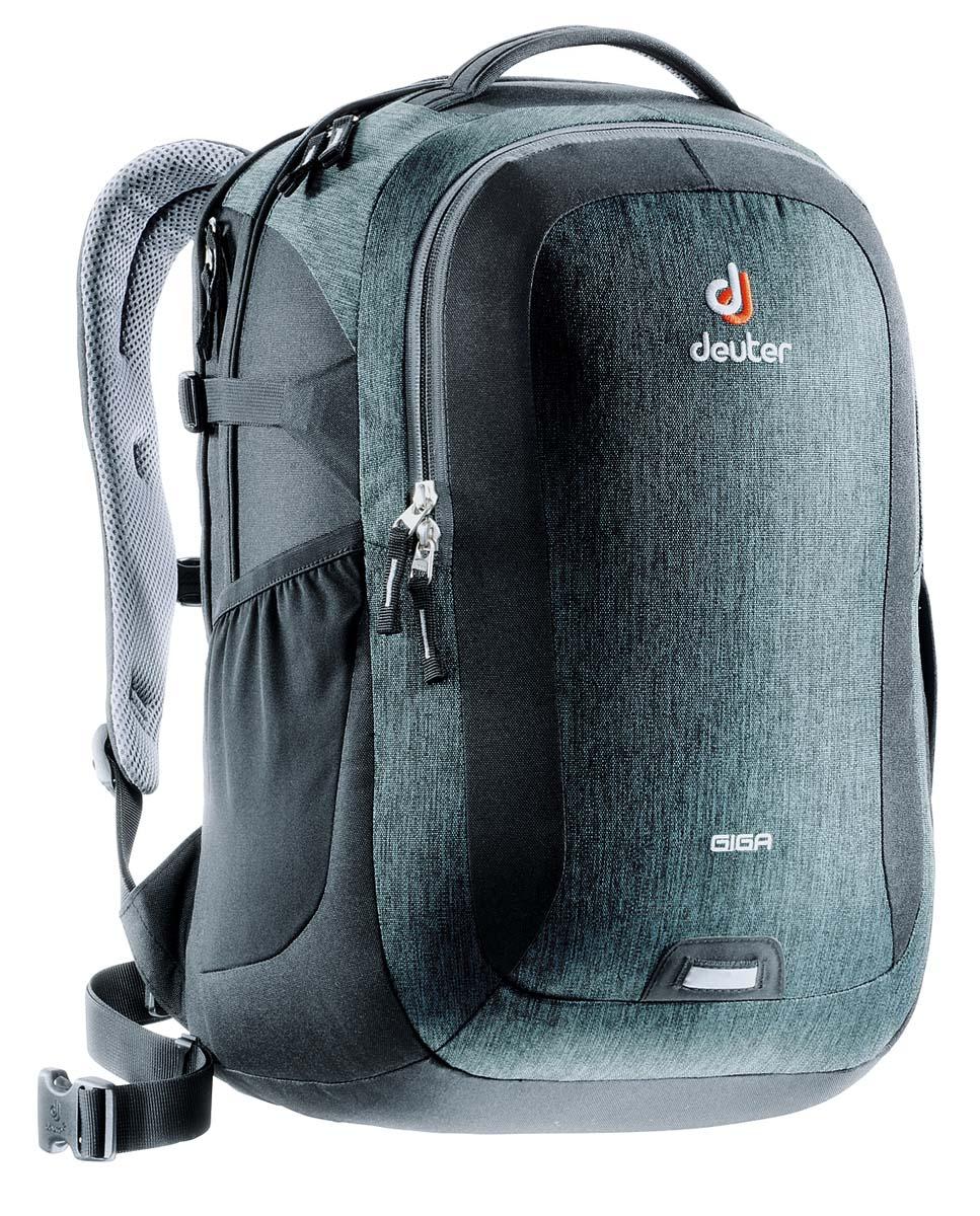 Рюкзак Deuter Daypacks Giga, цвет: черный, серый, 28л80414_7712Рюкзак для учебы и офиса с множеством карманов и отделением для ноутбука 15. Спинка системы Airstripes обеспечивает вентиляцию и надежное прилегание к спине.
