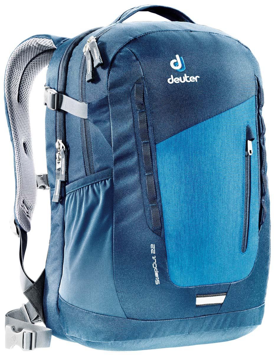 Рюкзак Deuter Daypacks StepOut 22, цвет: темно-бирюзовый, 22л3810415_3328Новый удобный рюкзак для города с отделениями для документов.