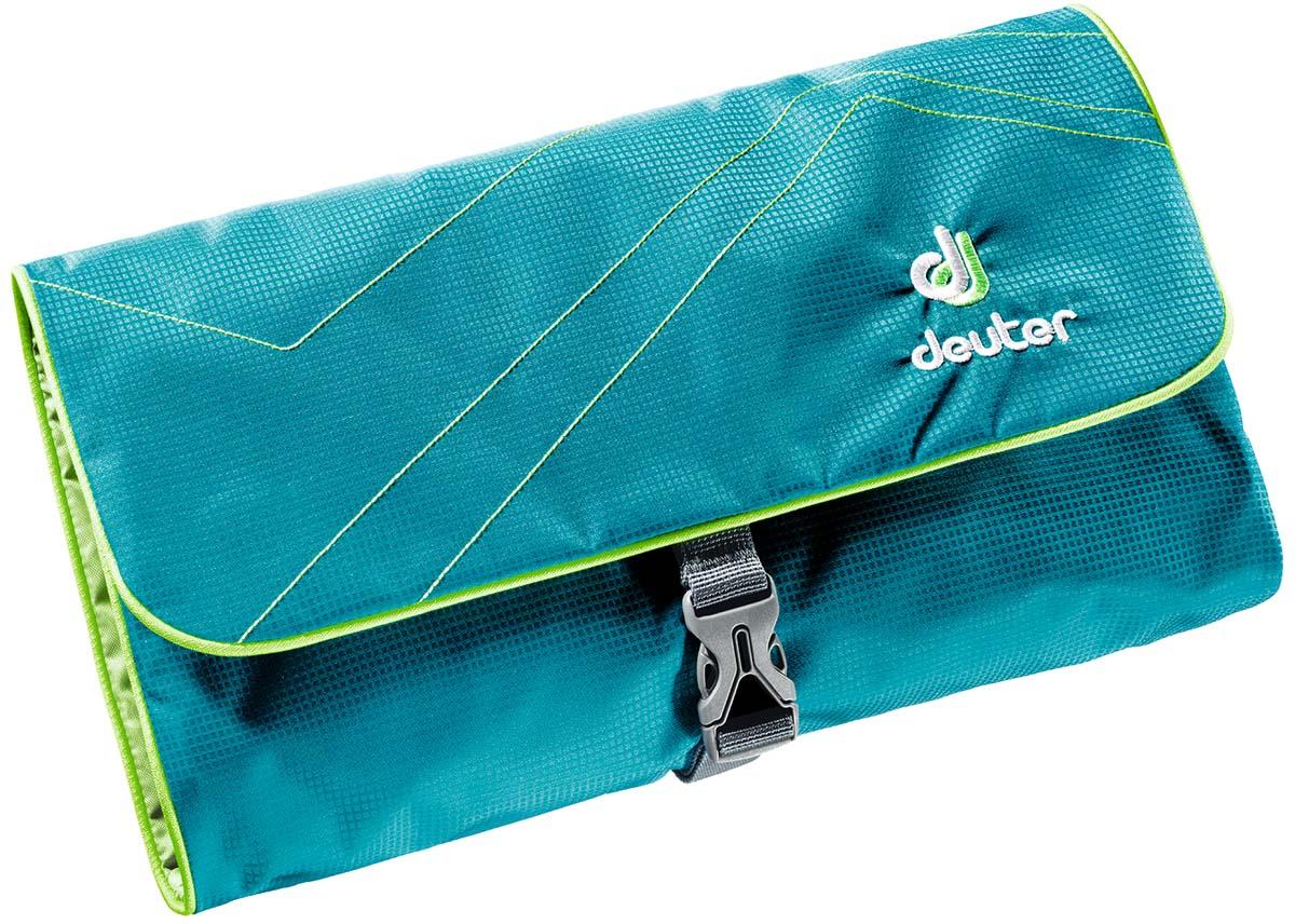 Косметичка Deuter Wash Bag II, цвет: бирюзовый, светло-зеленый39434_3214Многоцелевая сумка для мыла со щеткой, крема от загара и пр.
