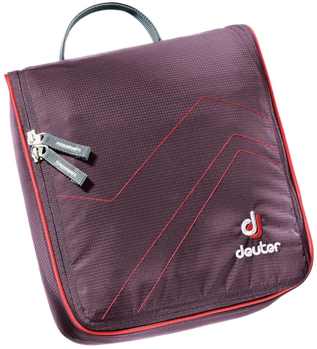 Косметичка Deuter Wash Bag II, цвет: фиолетовый, красный39434_5522Многоцелевая сумка для мыла со щеткой, крема от загара и пр.