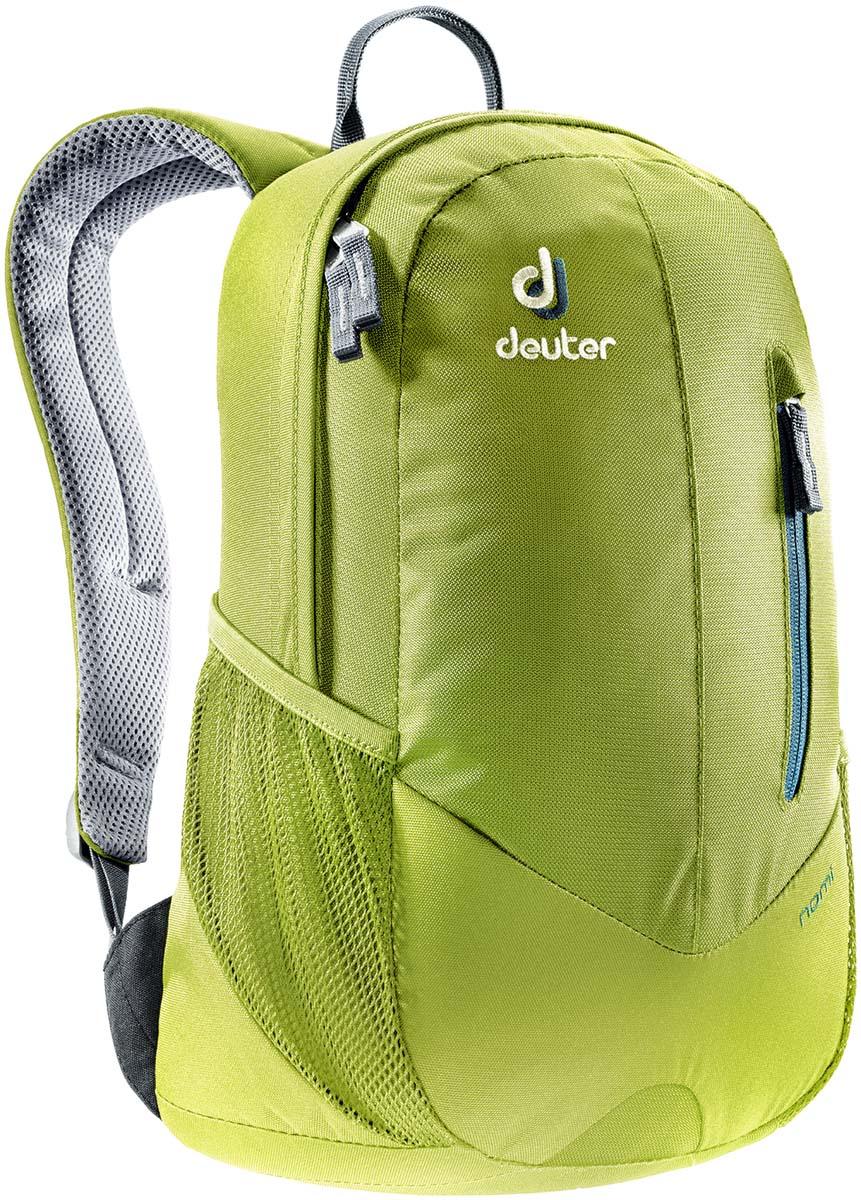 Рюкзак Deuter Nomi, цвет: темно-зеленый, голубой, 16л83739_2060Небольшой легкий рюкзак каплевидной формы полностью повторяет изгибы вашей спины во время движения. Рюкзак обладает небольшим весом и отличной функциональностью.