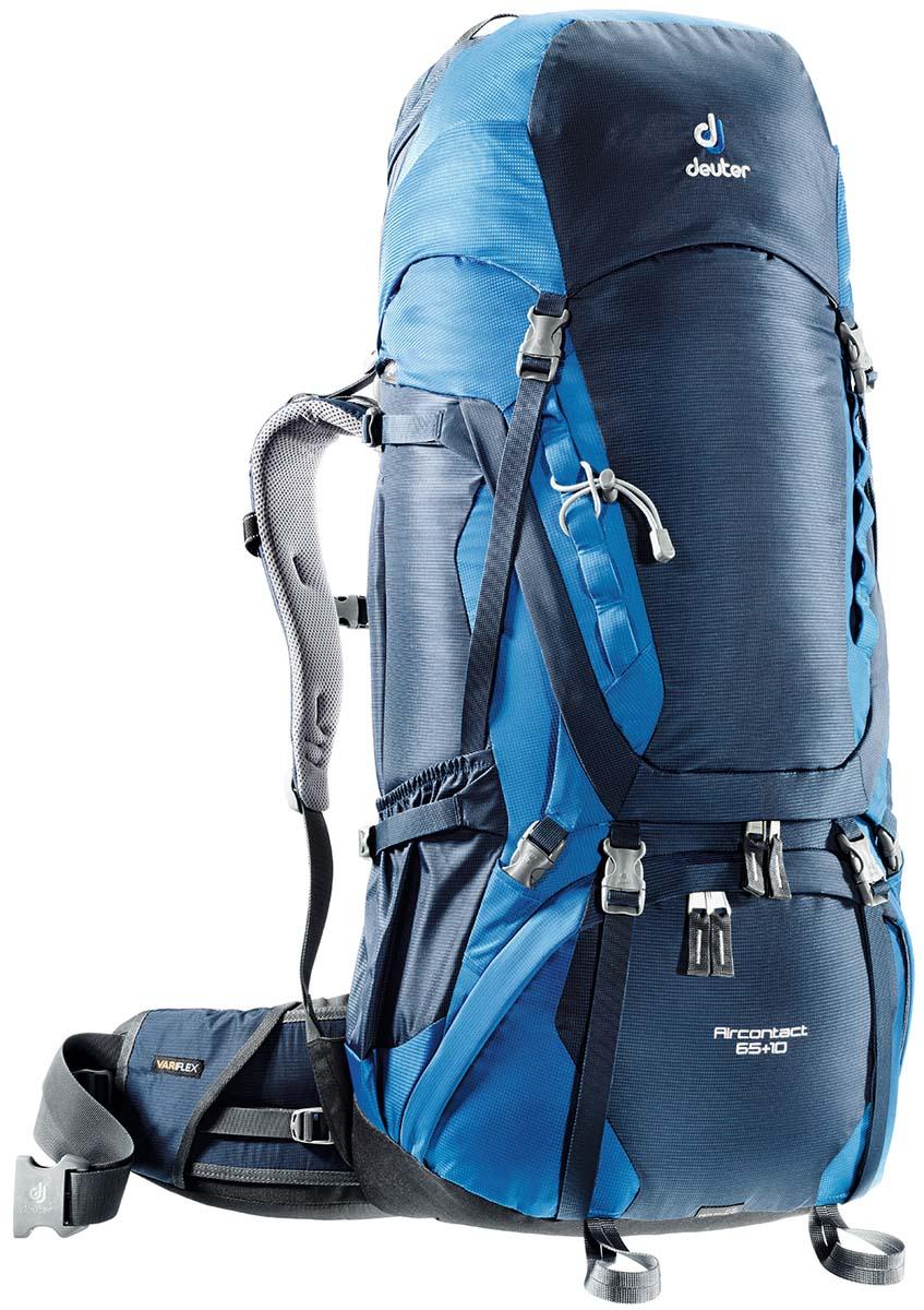 Рюкзак Deuter Aircontact 65+10, цвет: светло-голубой, синий, 75 л3320516_3980Компактный, спортивный рюкзак идеально подходит для людей, предпочитающих пешие прогулки. Анатомическая форма конструкции плечевых лямок и улучшенные крылья набедренного пояса делают рюкзак настолько удобными, что вы забудете, что у вас за спиной рюкзак. Особенности: Большой фронтальный клапан для прямого доступа Подвижный пояс с крыльями Vari Flex и затяжкой Pull-Forward Перфорированные алюминиевые стержни X-образного каркаса передают нагрузку на бедра Боковые компрессионные стропы Карман на молнии на крыле пояса Верхний клапан, регулируемый по высоте Карман в клапане Внутренний карман для мелких вещей Две линии петель daisy chains Кольца крепления на верхней крышке клапана Петли для крепления ледоруба и треккинговых палок Отдельный отсек в нижней части Компрессионные стропы внизу Двухслойное дно Съемный чехол от дождя Карман для карт сбоку Второй вместительный карман сбоку SOS...