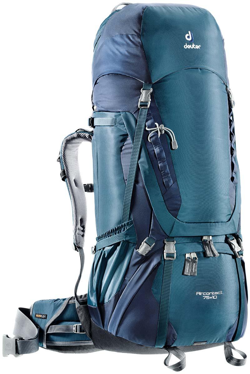 Рюкзак спортивный Deuter Aircontact 75+10, цвет: темно-синий, 85 л3320716_3329Спортивный рюкзак идеально подходит для людей, предпочитающих пешие прогулки. Анатомическая форма конструкции плечевых лямок и улучшенные крылья набедренного пояса делают рюкзак настолько удобными, что вы забудете, что у вас за спиной рюкзак. Особенности: Большой фронтальный клапан для прямого доступа Подвижный пояс с крыльями Vari Flex и затяжкой Pull-Forward Перфорированные алюминиевые стержни X-образного каркаса передают нагрузку на бедра Боковые компрессионные стропы Карман на молнии на крыле пояса Верхний клапан, регулируемый по высоте Карман в клапане Внутренний карман для мелких вещей Две линии петель daisy chains Кольца крепления на верхней крышке клапана Петли для крепления ледоруба и треккинговых палок Отдельный отсек в нижней части Компрессионные стропы внизу Двухслойное дно Съемный чехол от дождя Карман для карт сбоку Второй вместительный карман сбоку SOS лейбл ...