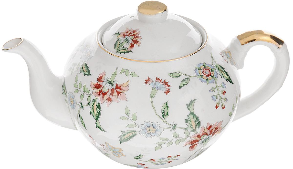 Чайник заварочный Loraine Цветы, с фильтром, 1 л. 2112221122Заварочный чайник Loraine Цветы, изготовленный из высококачественной керамики с глазурованным покрытием, оснащен удобной ручкой, крышкой и металлическим фильтром. Изделие прекрасно подходит для заваривания ароматного чая, травяных настоев и многого другого. Яркий цветочный рисунок придает чайнику особый шарм. Он удобен в использовании и понравится каждому. Заварочный чайник Loraine Цветы станет приятным и практичным подарком на любой праздник. Диаметр чайника (по верхнему краю): 8,7 см. Высота чайника (без учета крышки): 10 см. Диаметр фильтра (по верхнему краю): 7,5 см. Высота фильтра: 5,3 см.