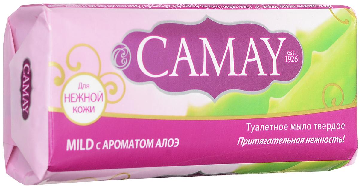 Camay Твердое мыло Mild 90 гр32025886Туалетное мыло Camay Алоэ - легкий аромат ромашки и алоэ расслабляет и наполняет нежностью.