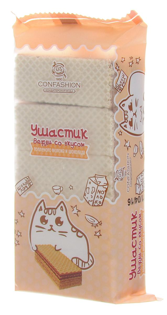 Confashion Ушастик вафли со вкусом топленого молока и шоколада, 125 г