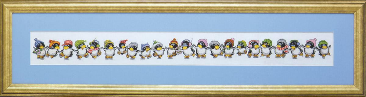 Набор для вышивания крестом Design Works Веселые пингвины, 8 х 71 см1062Канва Аида 14 (100% хлопок), нитки мулине (100% хлопок), игла, подробная инструкция со схемой вышивки на русском языке.