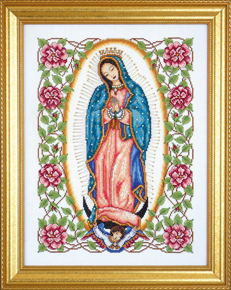 Набор для вышивания крестом Design Works Гваделупская дева, 33 х 43 см2323Образ Гваделупская Дева (Our Lady of Guadalupe). В набор входят бусины.