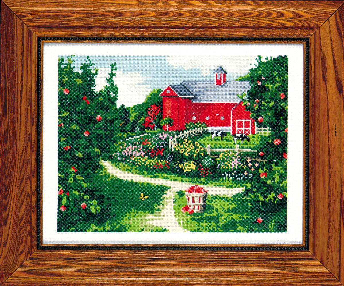Набор для вышивания крестом Design Works Красный амбар, 28 х 36 см2342По картине Алана Джиана Уголок твоей жизни (Corner of your Life by Alan Giana).