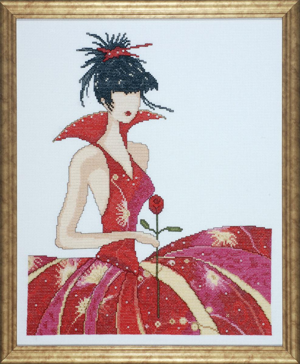 Набор для вышивания крестом Design Works Лола, 32,5 х 40 см2433Дизайнер Мерилин Робертсон (Lola, Marilyn Robertson).
