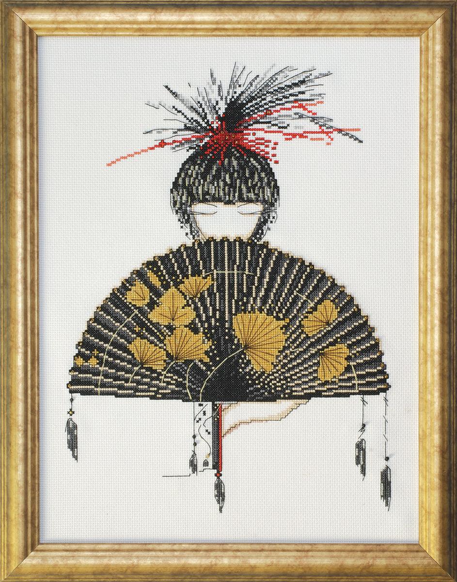 Набор для вышивания крестом Design Works Микадо, 30 х 40 см2489Дизайнер Мэрилин Робертсон (Mikado, Marilyn Robertson).