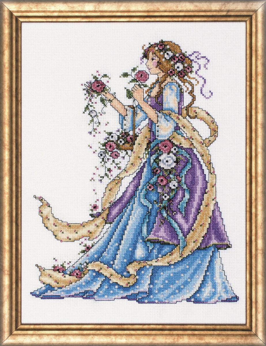 Набор для вышивания крестом Design Works Леди Роза, 225 х 30 см2493По картине Джоан Эллиотт (Lady Rose, Joan Elliott). В набор входят бусины.
