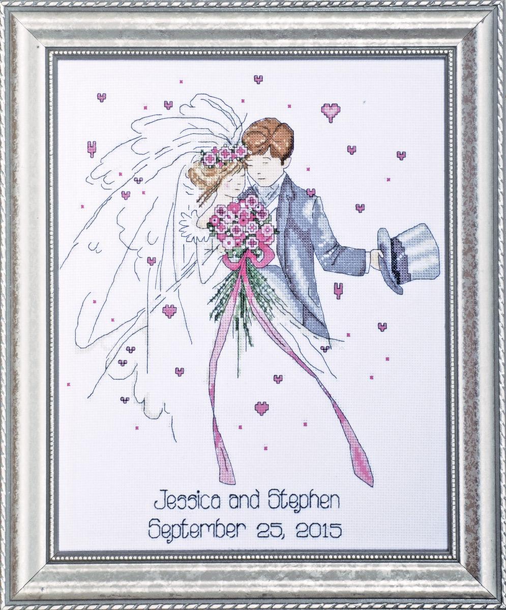 Набор для вышивания крестом Design Works Жених и невеста, 28 х 36 см2589Канва Аида 14 (100% хлопок), нитки мулине (100% хлопок), игла, подробная инструкция со схемой вышивки на русском языке