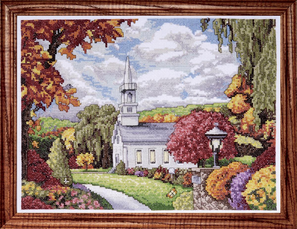 Набор для вышивания крестом Design Works Осеннее вдохновение, 23 х 30 см2592По картине Алана Джиана Вдохновение (Inspiration, Alan Giana).