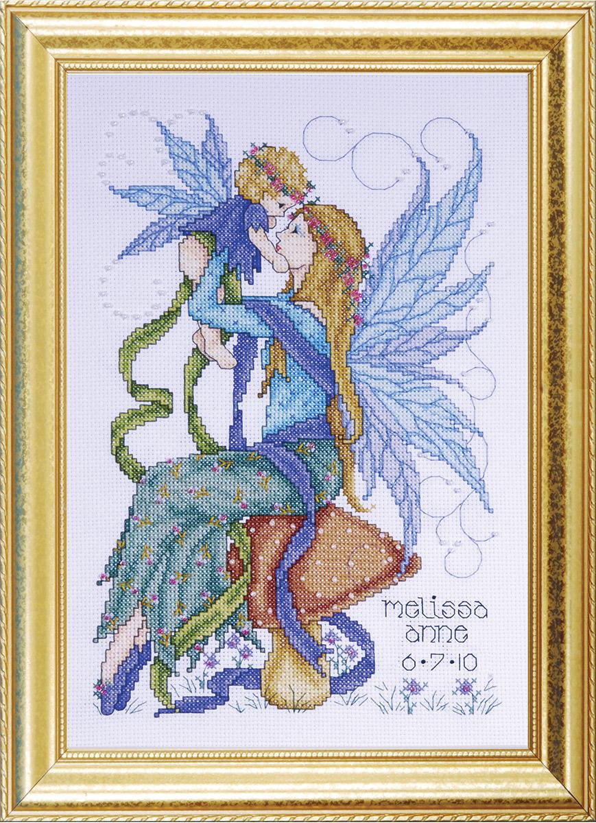 Набор для вышивания крестом Design Works Мама-фея, 20 х 30 см2707По картине Джоан Эллиотт (Fairy Mother, Joan Elliott). В набор входят бусины.