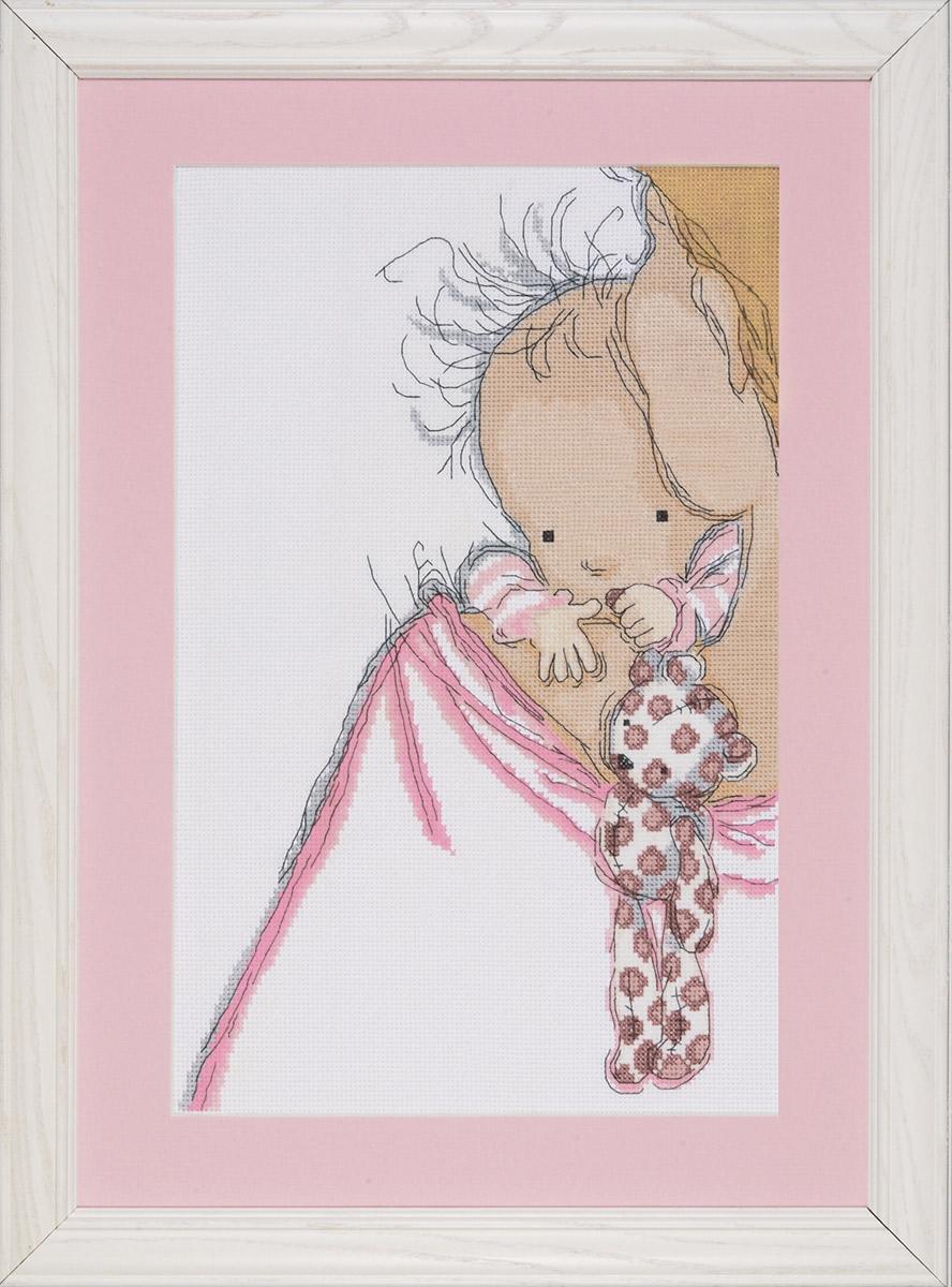 Набор для вышивания крестом Design Works Детские объятья, 23 х 35 см2720По рисунку Аннабель Спенсли (Baby Hugs, Annabel Spenceley).