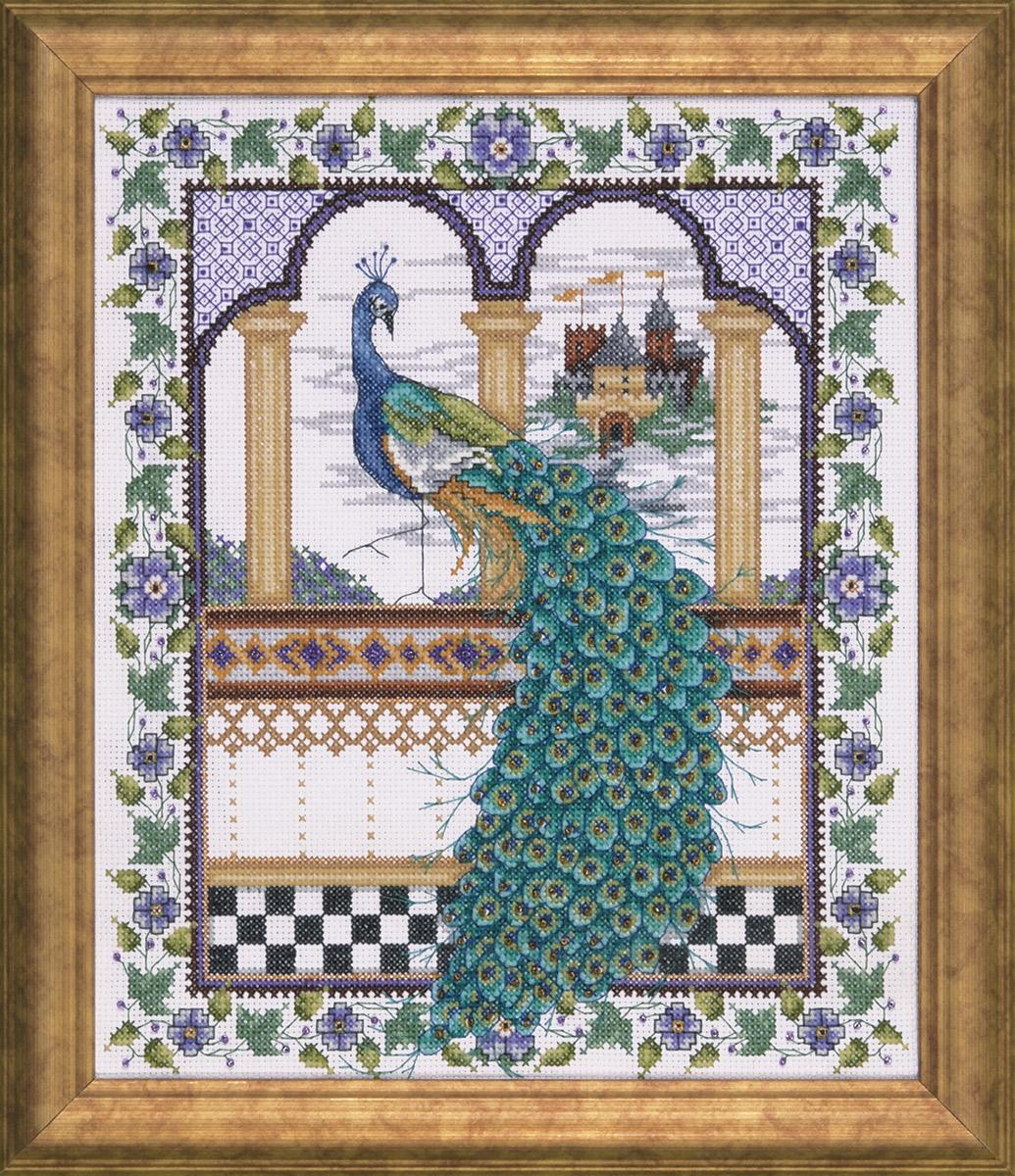 Набор для вышивания крестом Design Works Павлин, 27 х 30 см2725Дизайнер Джоан Эллиотт (Peacock, Joan Elliott).