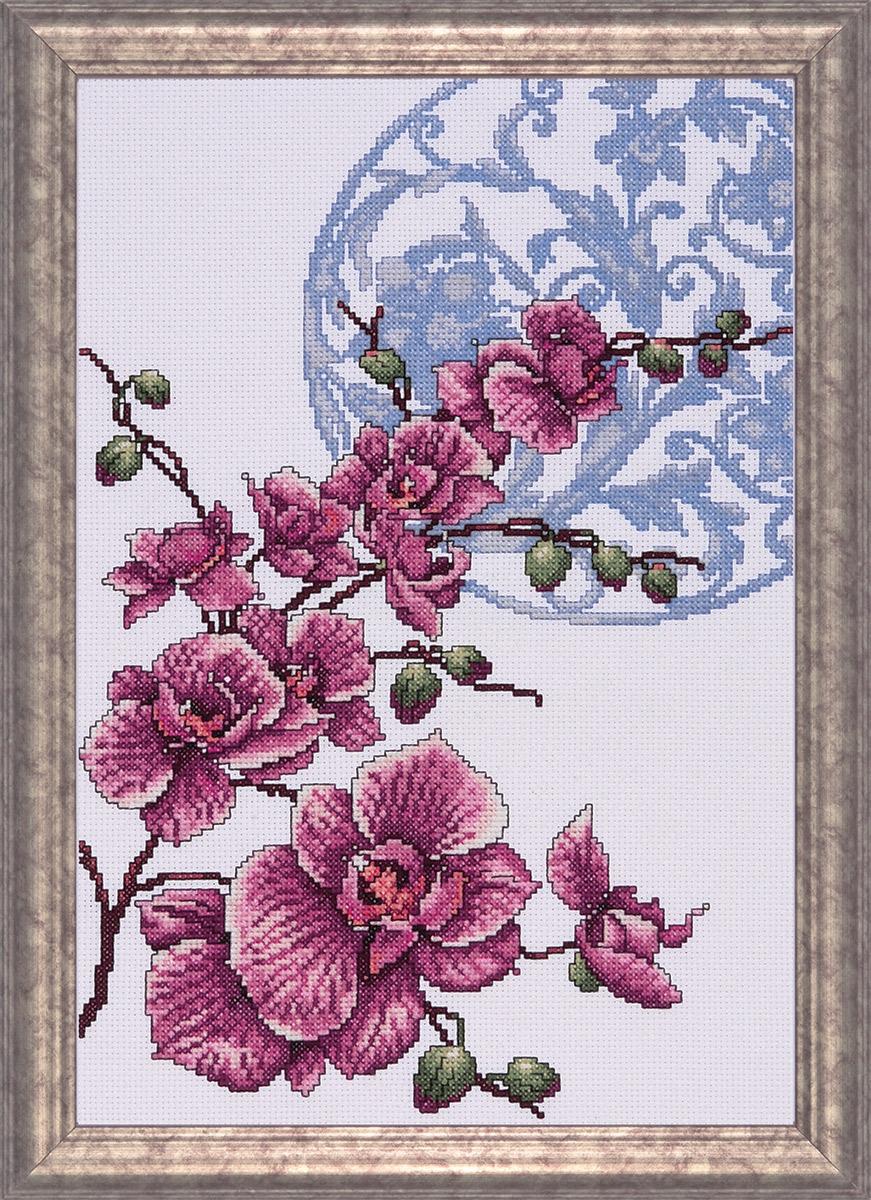 Набор для вышивания крестом Design Works Орхидея, 25 х 36 см2727Дизайнер Девид Воверсон (Orchids, David Woverson).Канва Аида 14 (100% хлопок), нитки мулине (100% хлопок), игла, подробная инструкция со схемой вышивки на русском языке
