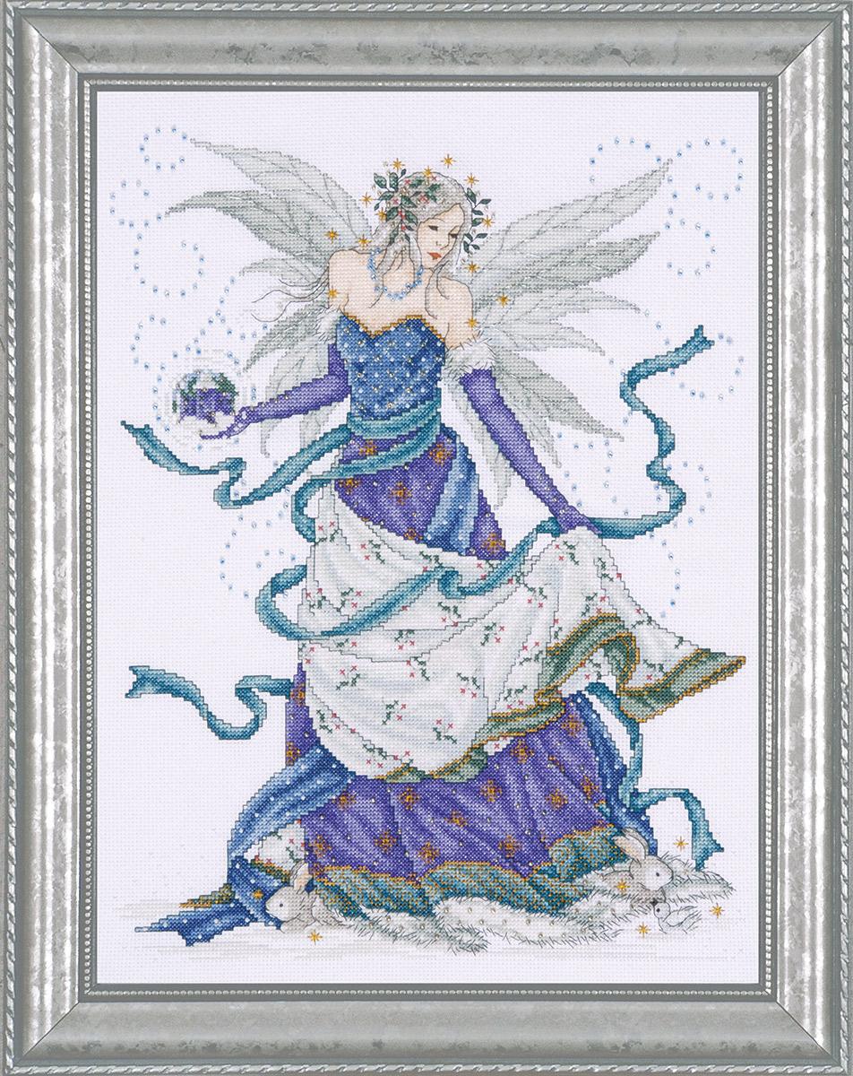 Набор для вышивания крестом Design Works Зимняя фея, 30 х 38 см2739Канва Аида 14 (100% хлопок), нитки мулине (100% хлопок), бисер, игла, подробная инструкция со схемой вышивки на русском языке