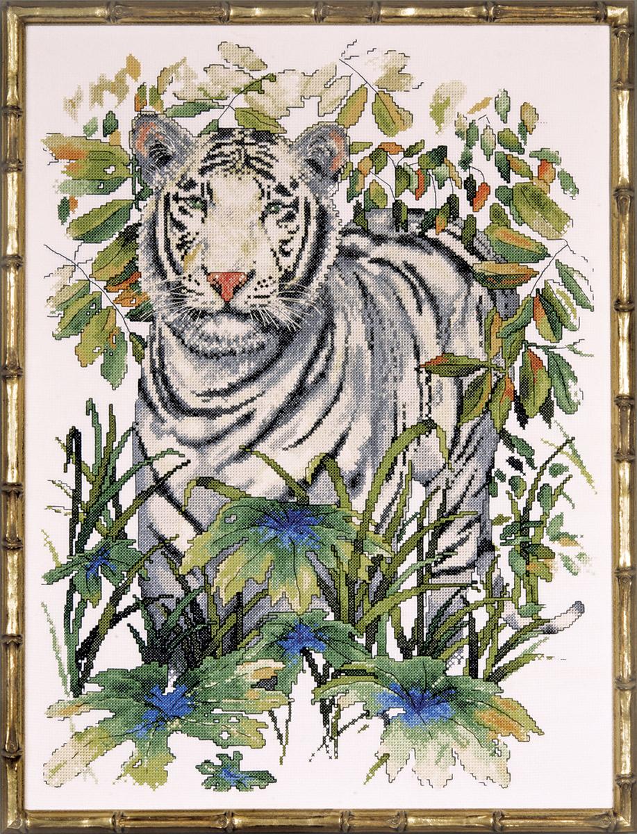 Набор для вышивания крестом Design Works Белый тигр, 38 х 50 см2746По картине Джерри Совица (White Tiger, Jerry Sawitz).