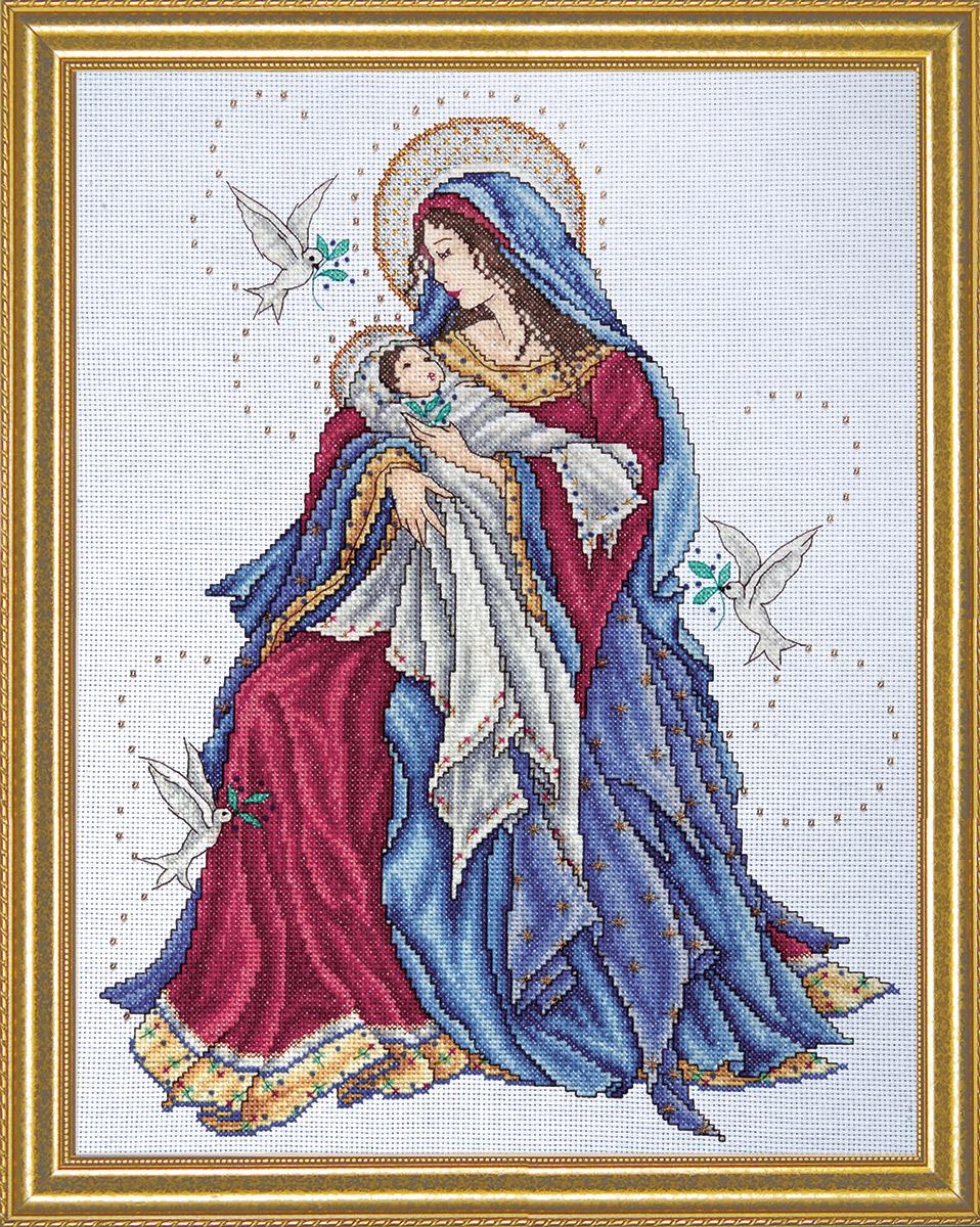 Набор для вышивания крестом Design Works Мадонна с младенцем, 30 х 38 см2765По картине Джоан Эллиотт (Madonna and Child, Joan Elliott). В набор входят бусины.
