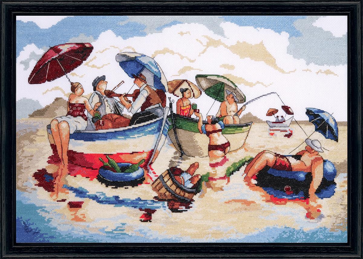 Набор для вышивания крестом Design Works Полдник на воде, 35 х 51 см2778Канва Аида 14 (100% хлопок), нитки мулине (100% хлопок), игла, подробная инструкция со схемой вышивки на русском языке
