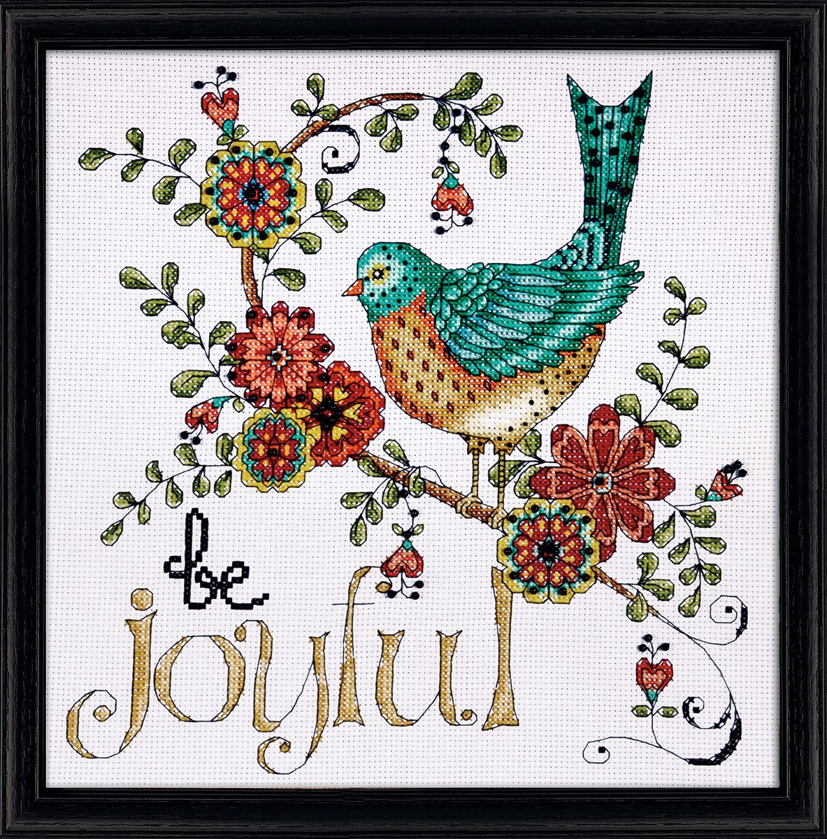 Набор для вышивания крестом Design Works Птица. Радость, 25 х 25 см2789Канва Аида 14 (100% хлопок), нитки мулине (100% хлопок), игла, подробная инструкция со схемой вышивки на русском языке