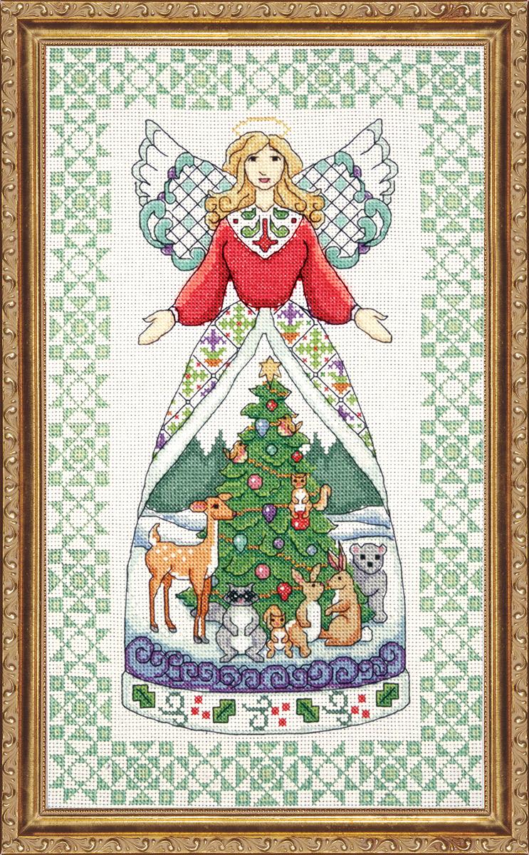 Набор для вышивания крестом Design Works Ангел зимы, 23 х 38 см2809По рисунку Джима Шора (Winter Angel, Jim Shore).