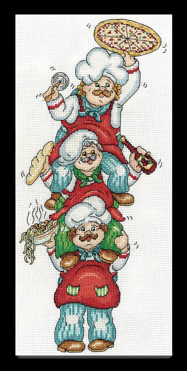 Набор для вышивания крестом Design Works Доставка пиццы, 15x35 см2841По рисунку Карен Харран (Pizza Delivery, Karen Harran).