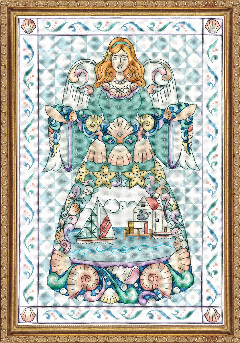 Набор для вышивания крестом Design Works Морской ангел, 36 х 51 см2861Канва Аида 14 (100% хлопок), нитки мулине (100% хлопок), игла, подробная инструкция со схемой вышивки на русском языке