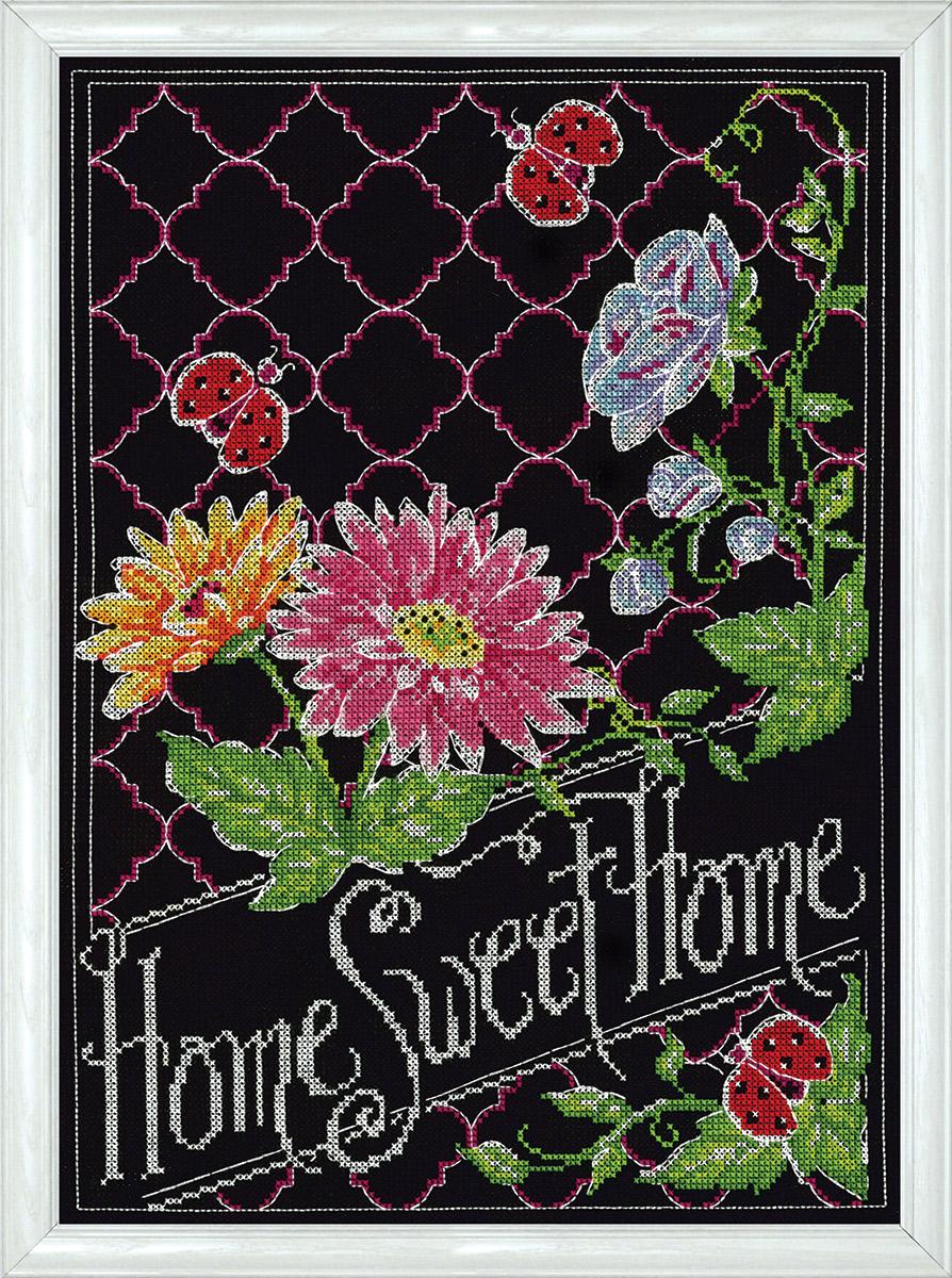 Набор для вышивания крестом Design Works Меловая надпись. Милый дом, 25 х 36 см2868Канва Аида 14 (100% хлопок), нитки мулине (100% хлопок), игла, подробная инструкция со схемой вышивки на русском языке