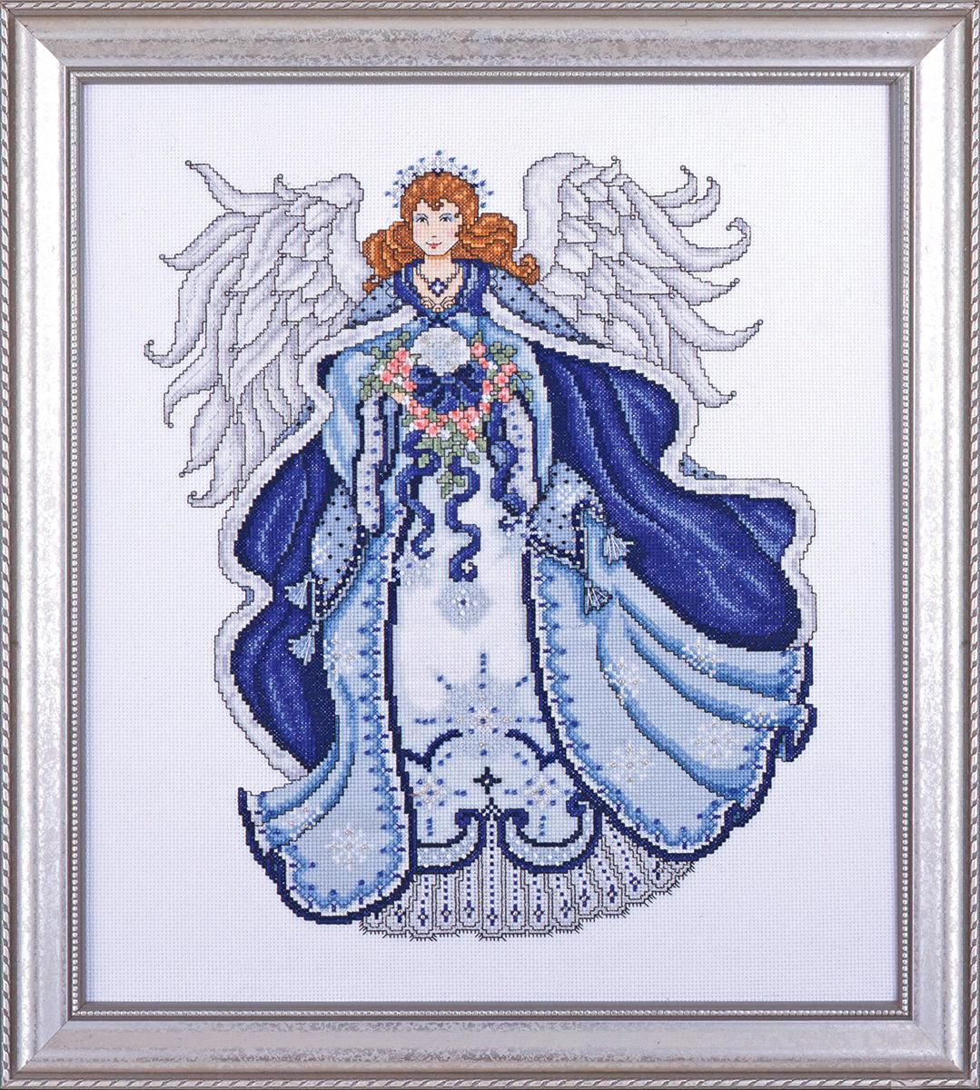 Набор для вышивания крестом Design Works Ангел снега, 40 х 46 см5499По рисунку Шелли Раше (Angel of Snow, Shelly Rasche).;Канва Аида 14 (100% хлопок), нитки мулине (100% хлопок), бусины, игла, подробная инструкция со схемой вышивки на русском языке