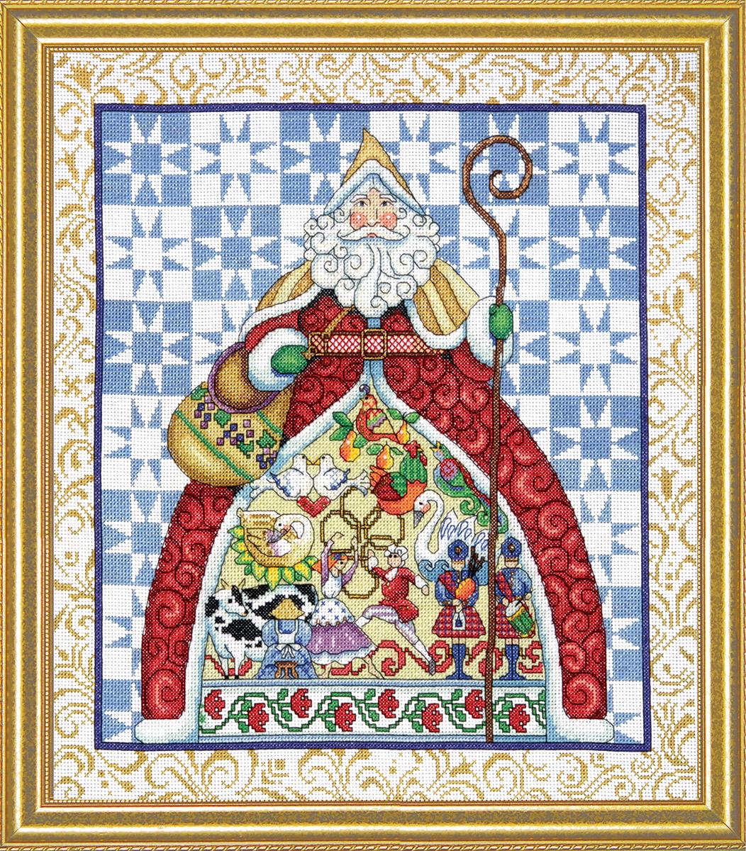 Набор для вышивания крестом Design Works 12 дней Рождества, 35x40 см5992Канва Аида 14 (100% хлопок), нитки мулине (100% хлопок), игла, подробная инструкция со схемой вышивки на русском языке