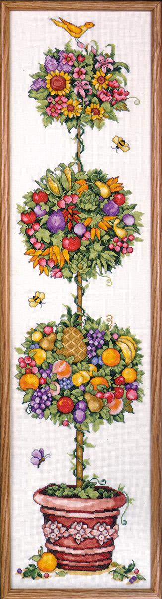 Набор для вышивания крестом Design Works Дерево счастья, 23 х 92 см9627Канва Аида 14 (100% хлопок), нитки мулине (100% хлопок), игла, подробная инструкция со схемой вышивки на русском языке