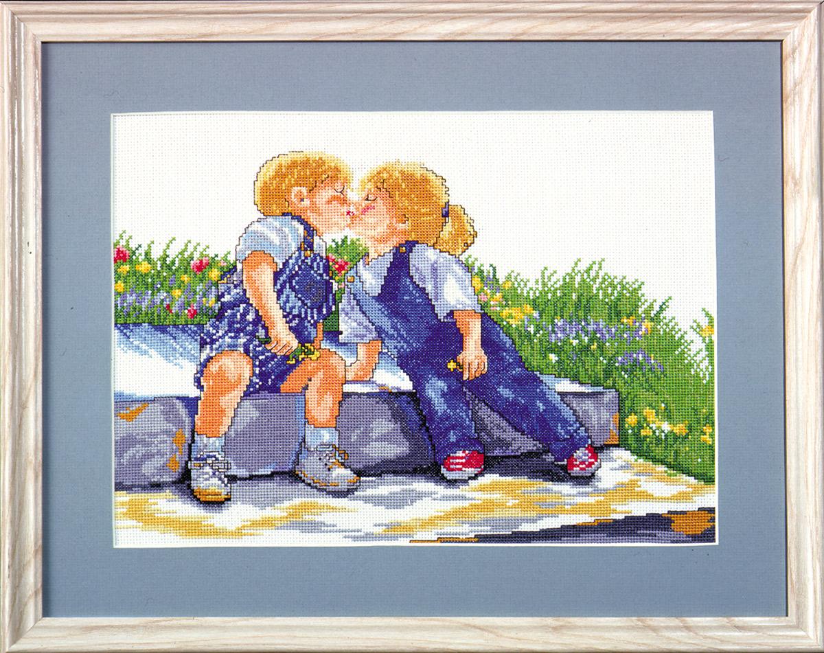 Набор для вышивания крестом Design Works Ранняя любовь, 28 х 36 см9839По картине Джуди Кули (Young Love, Judy Cooley).Канва Аида 14 (100% хлопок), нитки мулине (100% хлопок), игла, подробная инструкция со схемой вышивки на русском языке