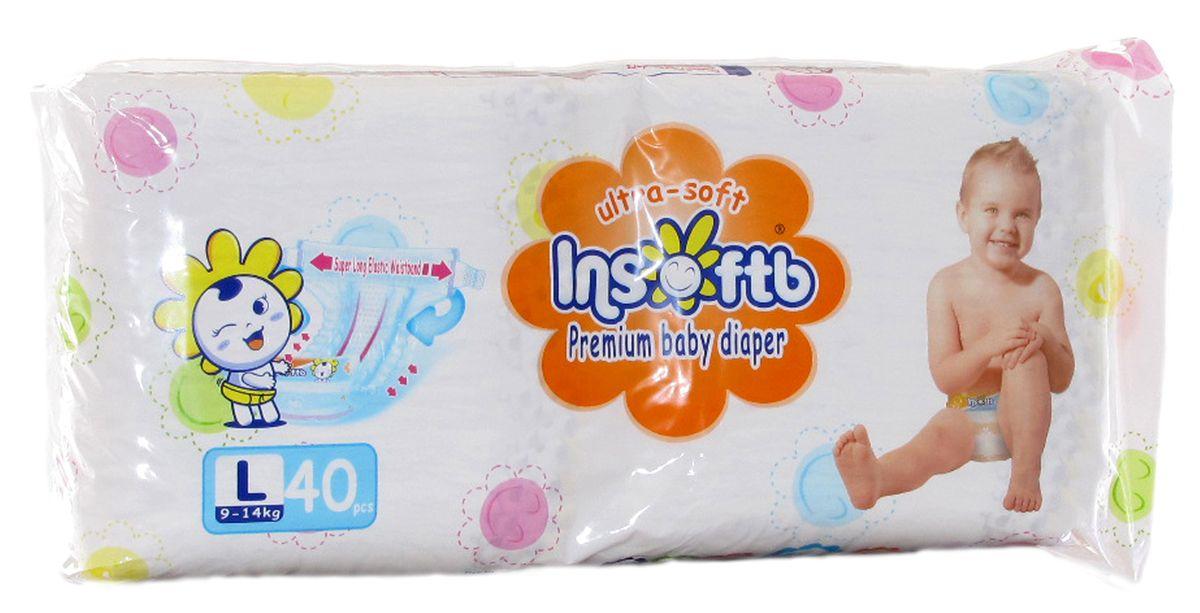 Insoftb Подгузники Premium Ultra-soft 9-14 кг размер L 40 шт6952753899407Подгузники Insoftb (ИнсфотБи) - это прочные и качественные подгузники, безопасные для кожи малыша, и в тоже время Insoftb обладаюo высокой прочностью, не протекают, и защищают кожу ребёнка от опрелостей. Внутренняя поверхность подгузников Insoftb (ИнсофтБи) сделана из натурального хлопка и бережно защищает чувствительную кожу малыша. Суперабсорбенты, используемые в подгузнике Insoftb (ИнсофтБи), великолепно впитывают влагу, которая, преобразуясь в гель, не попадает на кожу, тем самым помогая сохранить кожу малыша сухой днем и ночью. Мягкое ячеистое сиденье нежно прикасается к коже ребёнка, облегая её. Мягкие прилегающие складки Insoftb (ИнсофтБи) нежно соприкасаются с кожей малыша, препятствуя замачиванию внутренней стороны бёдер. Вентилируемое сиденье подгузника предохраняет от опрелости. Insoftb (ИнсофтБи) имеют складку с вентилируемыми отверстиями, чтобы быстро удалять пот со спины, подверженной потнице. Это повышает проницаемость для воздуха на 200% по сравнению с прежними...