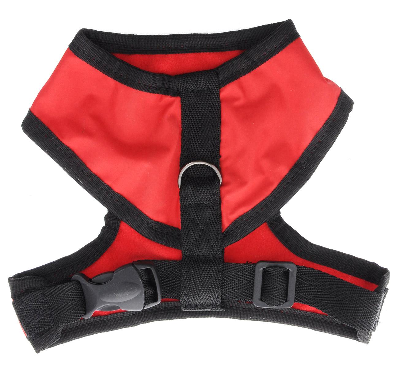 Шлейка для собак ЗооМарк, цвет: красный, красный флис, черный. Размер: 1Ш-1кШлейка для собак ЗооМарк выполнена из оксфорда, а на подкладке используется флис. Изделие оснащено специальным крючком, к которому вы с легкостью сможете прикрепить поводок. Шлейка имеет застежку фастекс и регулируется при помощи пряжки. Шлейка - это альтернатива ошейнику. Правильно подобранная шлейка не стесняет движения питомца, не натирает кожу, поэтому животное чувствует себя в ней уверенно и комфортно. Изделие отличается высоким качеством, удобством и универсальностью. Обхват груди: 22-25 см. Длина спинки: 14 см. Ширина ремней: 2 см.