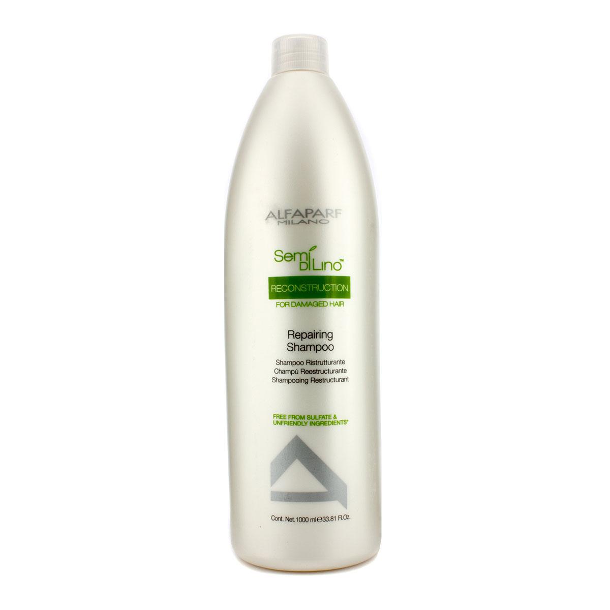 Alfaparf Шампунь для поврежденных волос Semi Di Lino Reconstruction Reparative Shampoo 1000 мл10014Alfaparf Semi Di Lino Reconstruction Reparative Shampoo Шампуньдля повреждённых волос разработан специально для повреждённых, ломких и слабых волос. Данное средство обеспечивает волосам тройной эффект способствует быстрому восстановлению повреждённых волос, усиливает их блеск, защищает естественный цвет волос. В состав шампуня Alfaparf SDL Reconstruction Reparative входит экстракт семени льна, который делает волосы блестящими, мягкими и гладкими, обеспечивая их лёгкое расчёсывание, а также экстракт бамбука, который позволяет реанимировать и увеличить гибкость волосяного стрежня. Шампунь Альфапарф SDL для повреждённых волос наделяет волосы здоровьем и блеском, сохраняя их естественный цвет. Подходит для типов волос: повреждённых, ломких и слабых.