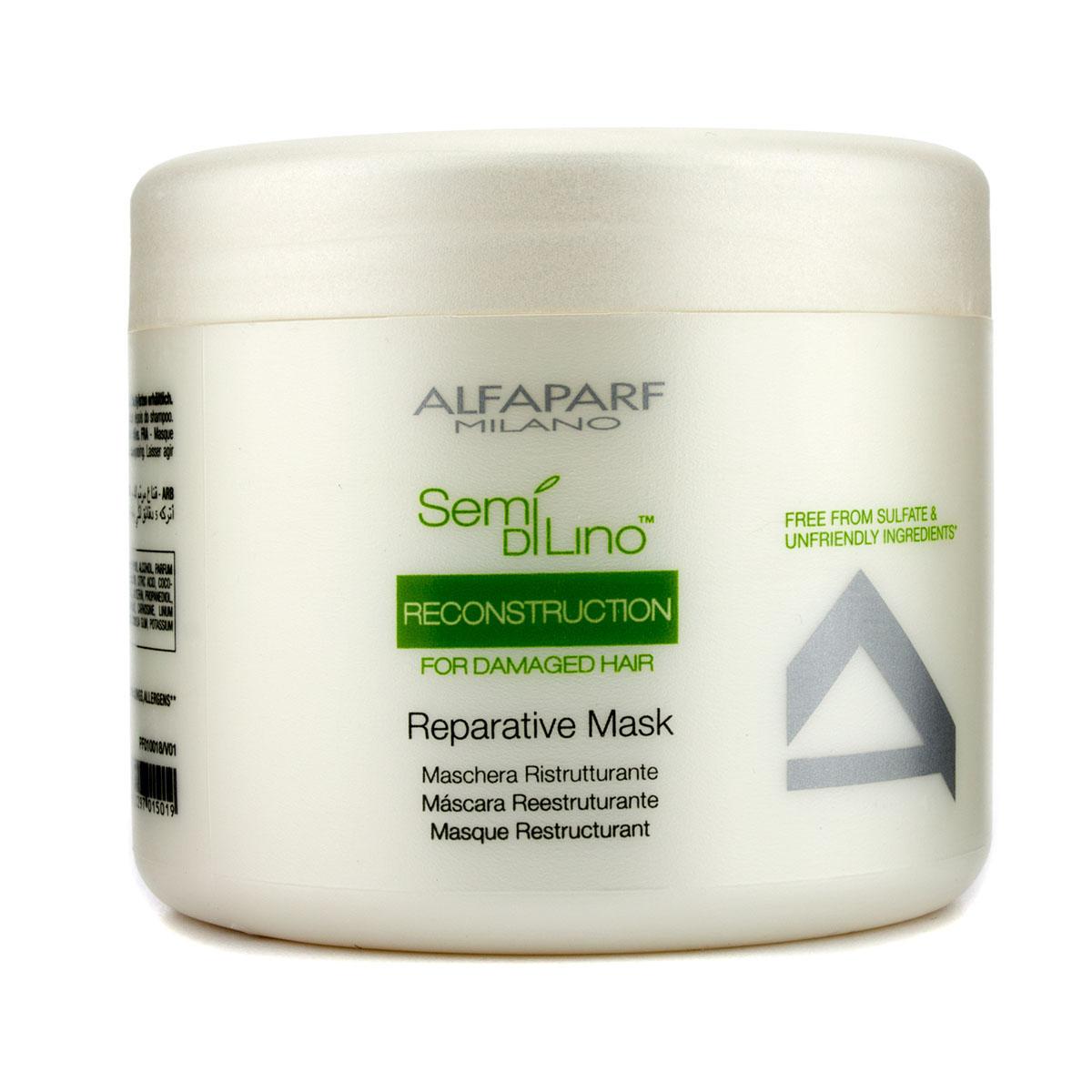 Alfaparf Маска для поврежденных волос Semi Di Lino Reconstruction Reparative Mask 500 мл
