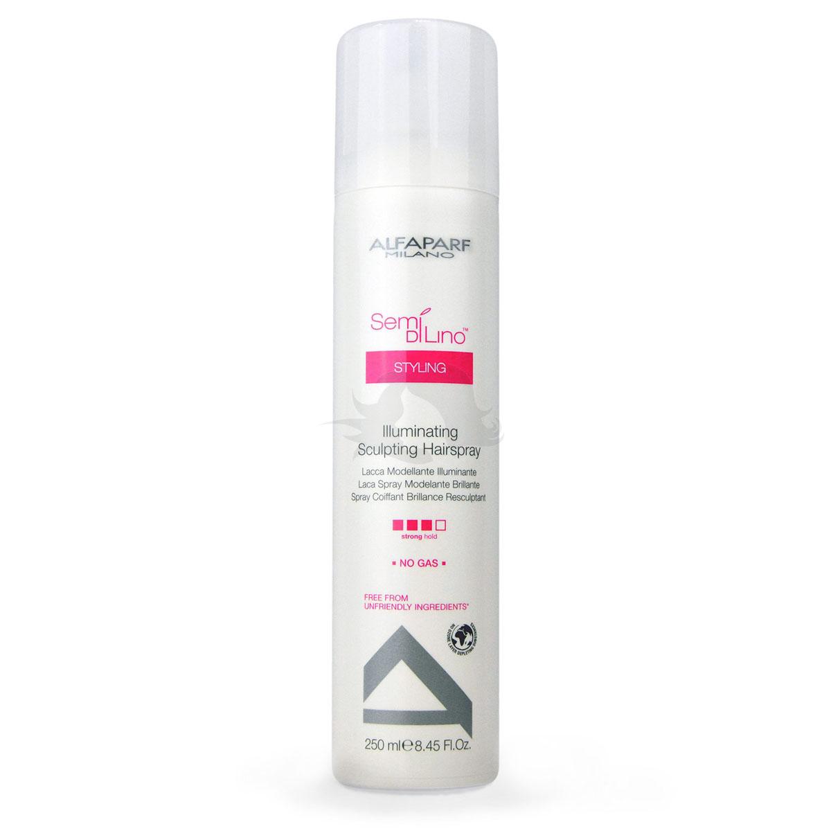 Alfaparf Лак для моделирования и укладки волос, придающий блеск Semi Di Lino Illuminating Sculpting Hairspray 250 мл